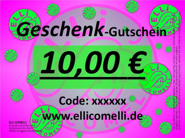 Geschenk Gutschein 10€ ELLi COMELLi