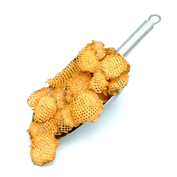 Süßkartoffel Chips - Gitterschnitt - ohne Öl, ohne Salz - komplett unbehandelt