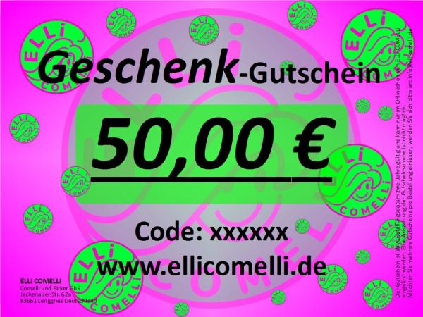 Gutschein Geschenk 50 € ELLi COMELLi