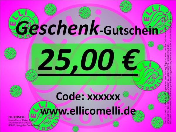 Geschenk-Gutschein 25 €
